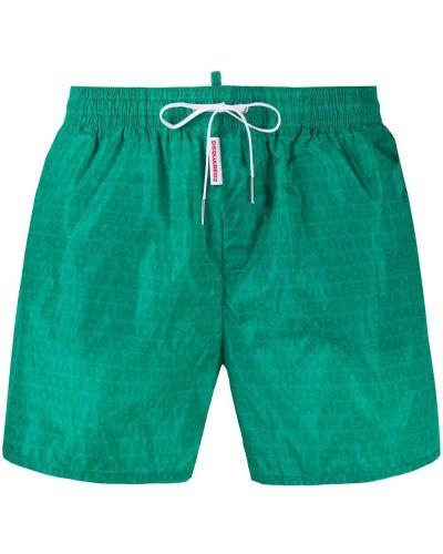 Zielony kąpielówki prążkowany w połowie kolana za pełne Dsquared2