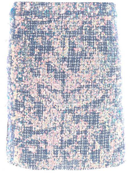 Niebieska spódnica mini Nicole Miller