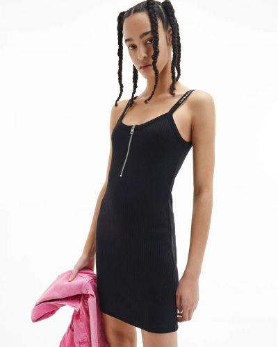 Черное джинсовое платье на молнии Calvin Klein Jeans