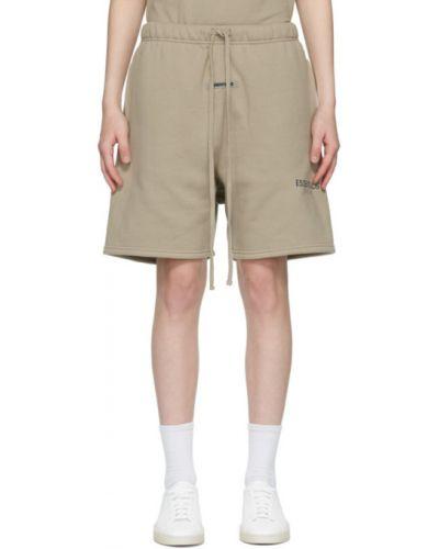 Хлопковые шорты с карманами хаки Essentials