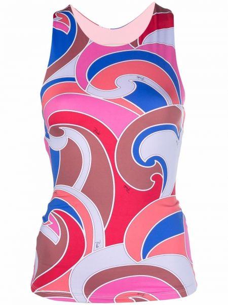 Розовый топ с вырезом Emilio Pucci