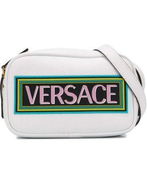 С ремешком кожаная сумка на плечо золотая Young Versace