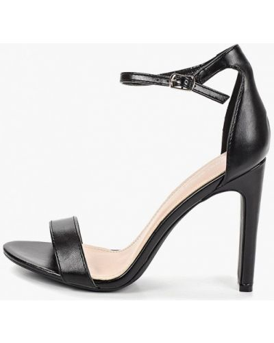 Босоножки черные на каблуке Ideal Shoes®