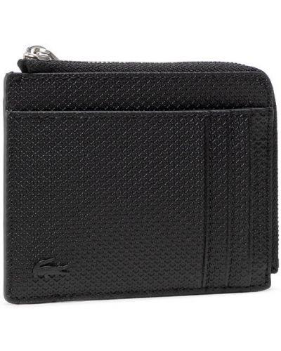 Czarny portfel oversize Lacoste