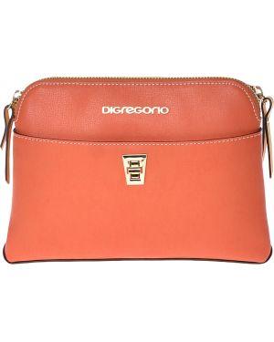 Оранжевая кожаная сумка Di Gregorio