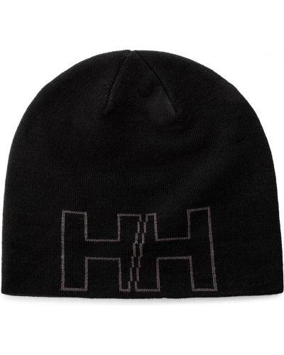 Czarna czapka beanie z akrylu Helly Hansen
