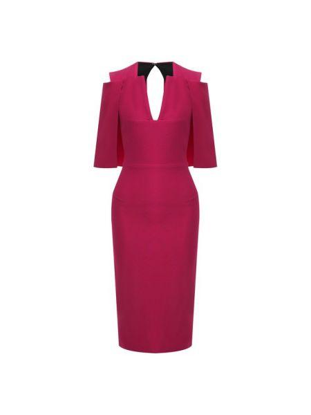 Платье мини розовое из вискозы Roland Mouret