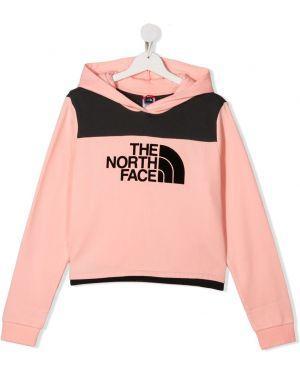 Розовый топ с капюшоном The North Face Kids
