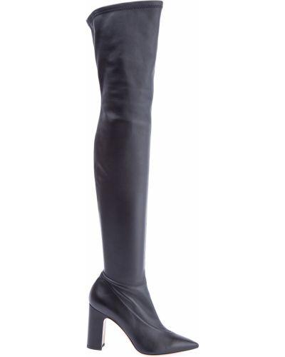 Кожаные сапоги на каблуке Valentino
