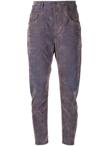 Fioletowy bawełna bawełna jeansy chłopaki z kieszeniami Diesel