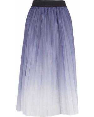 Расклешенная фиолетовая плиссированная юбка Tom Tailor