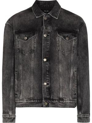 Czarne jeansy zapinane na guziki Ksubi