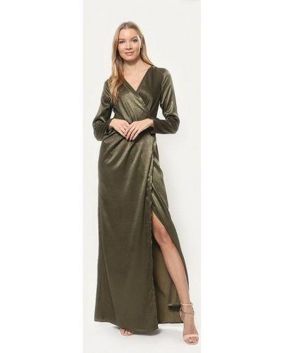 Вечернее платье осеннее хаки Tutto Bene