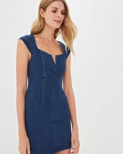 Джинсовое платье весеннее синее Free People