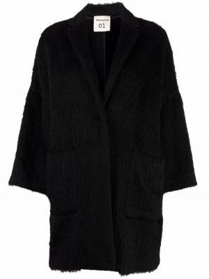 Пальто из альпаки - черное Semicouture