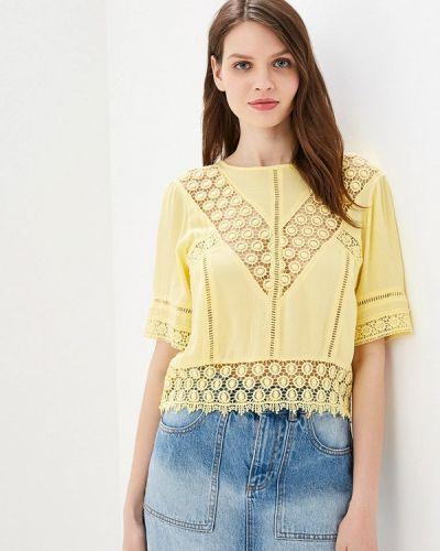 Блузка с коротким рукавом желтый индийский Miss Selfridge