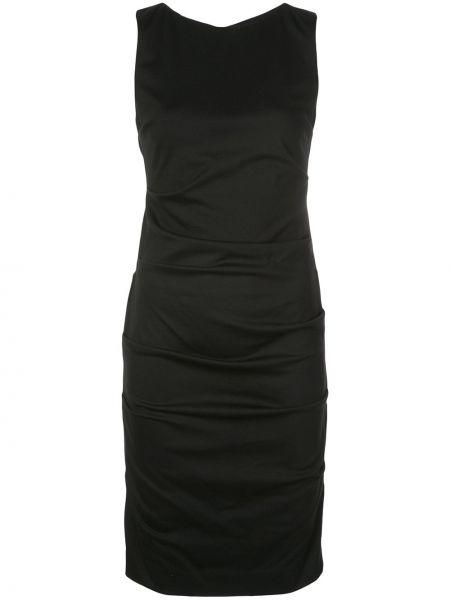 Приталенное асимметричное коктейльное платье Nicole Miller
