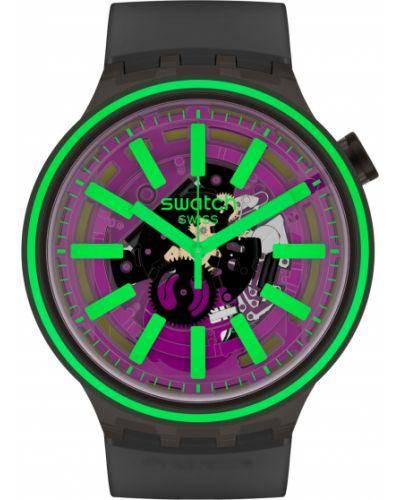 Фиолетовые силиконовые модные часы водонепроницаемые Swatch