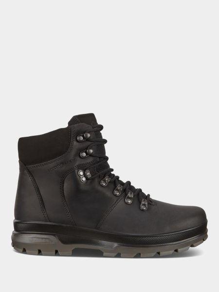 Ботинки из нубука - черные Ecco