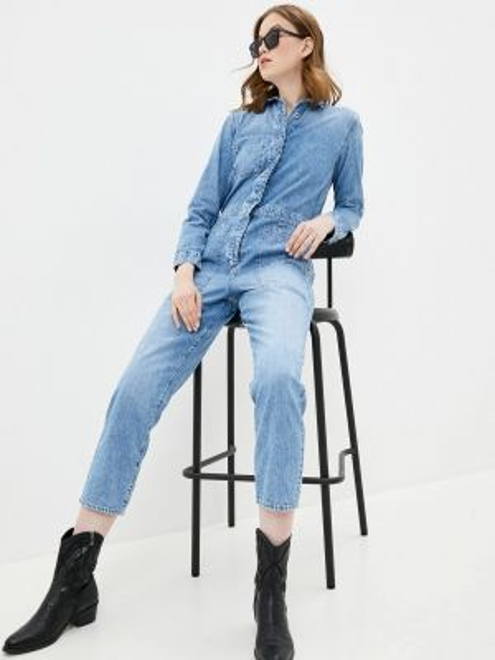 Синий джинсовый комбинезон Gap