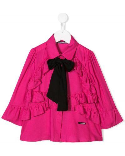Розовая рубашка на пуговицах Marco Bologna Kids