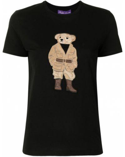Czarna t-shirt z printem Ralph Lauren Collection