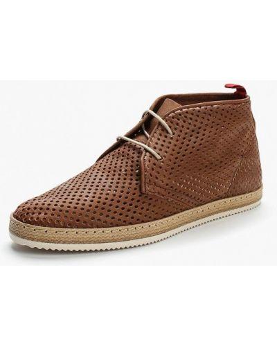 Коричневые кожаные ботинки Nobrand