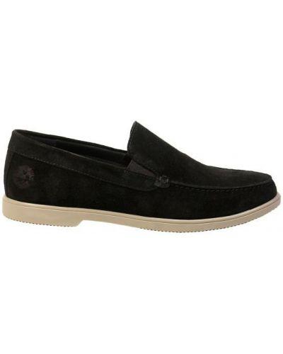 Замшевые туфли - черные Tonkelli