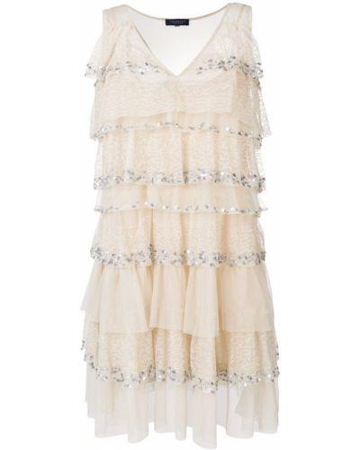 Платье с оборками шифт Twin-set