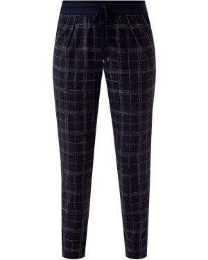 Шерстяные классические брюки - синие Lorena Antoniazzi
