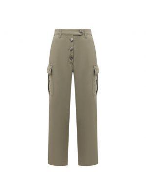 Хлопковые зеленые брюки Two Women In The World
