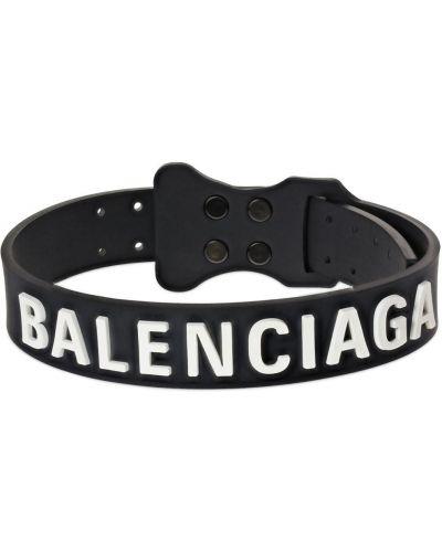 Czarny choker z klamrą Balenciaga