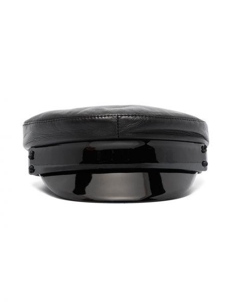 Кожаная кепка - черная Ruslan Baginskiy