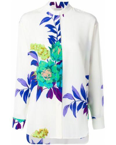 Рубашка с воротником-стойкой с цветочным принтом прозрачная Etro