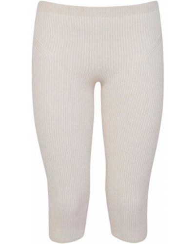 Beżowe legginsy z wiskozy Jacquemus