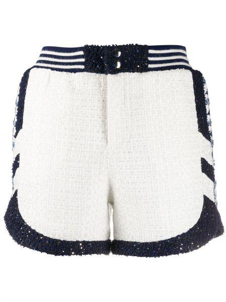 Хлопковые белые спортивные шорты с поясом Faith Connexion