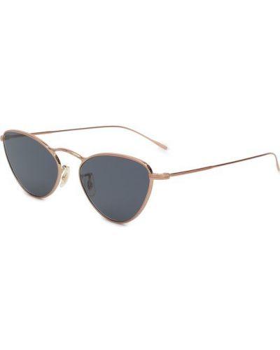 Солнцезащитные очки золотого цвета Oliver Peoples