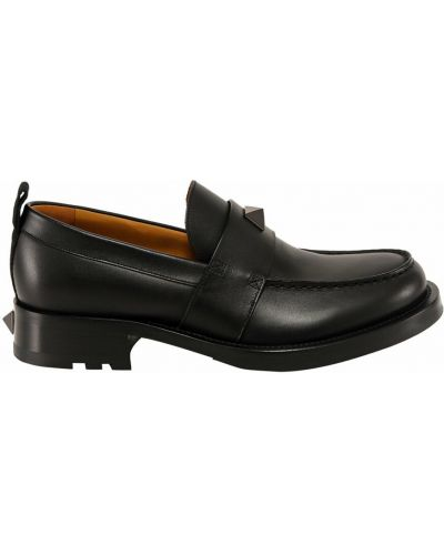 Czarne loafers Valentino