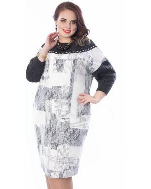 Теплое платье серое платье-сарафан Wisell