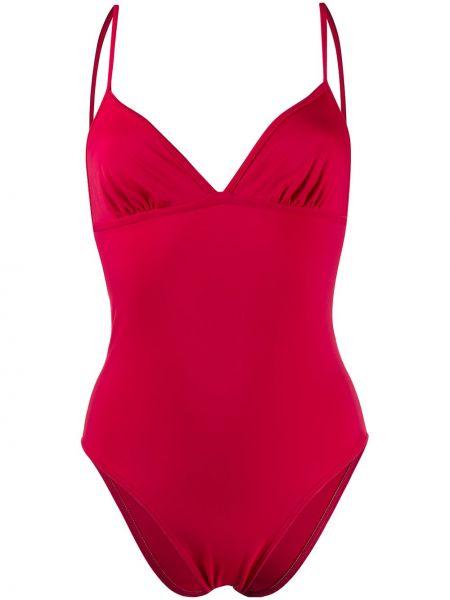 Красный слитный купальник без рукавов эластичный Sian Swimwear