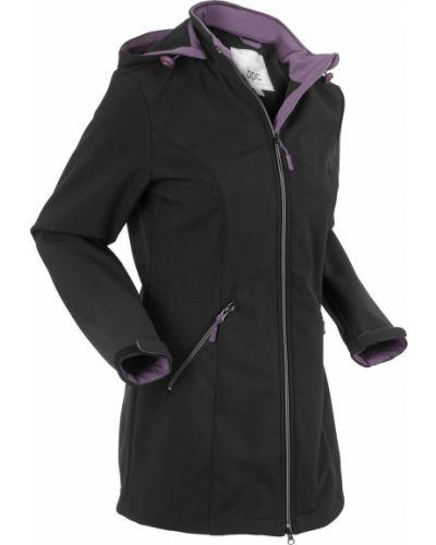 Черная куртка с капюшоном Bonprix