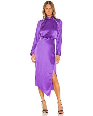 Платье миди на пуговицах на молнии Michelle Mason