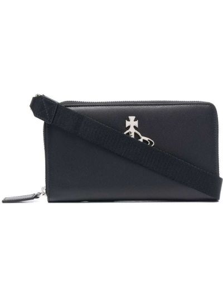 Черный кожаный кошелек Vivienne Westwood