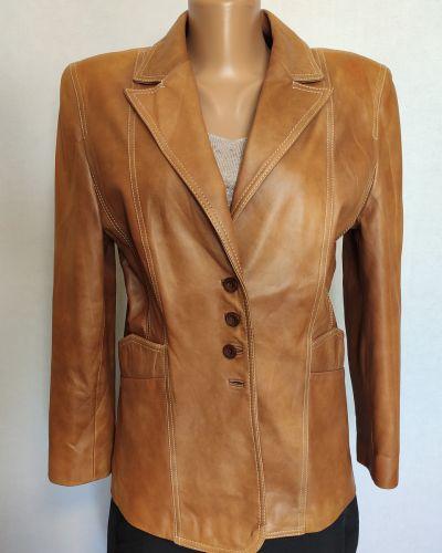 Кожаный пиджак - коричневый Taifun