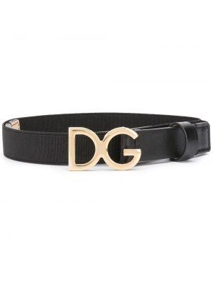 Черный кожаный ремень Dolce & Gabbana Kids
