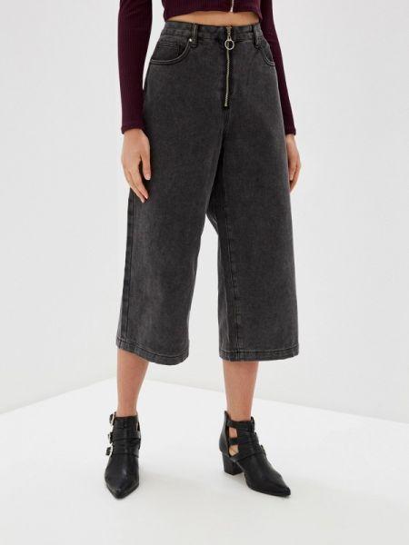 Широкие джинсы расклешенные серые Befree