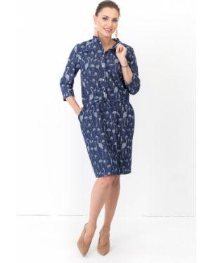 Джинсовое платье сафари с поясом Taiga