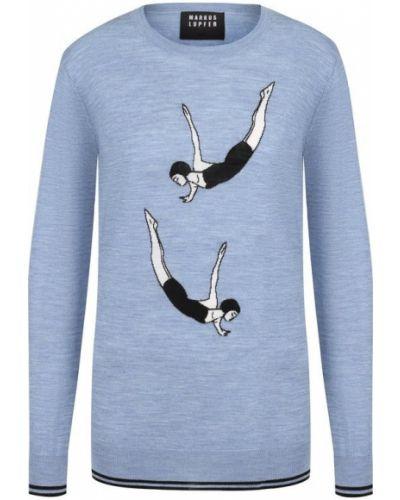 Голубой свитер свободного кроя Markus Lupfer