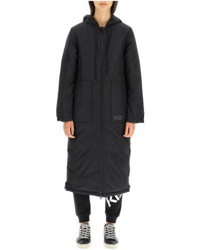 Czarny płaszcz zimowy Kenzo