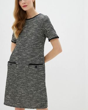 Повседневное платье серое осеннее Wallis